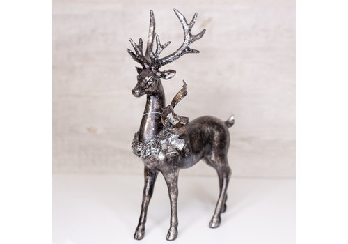 Regency Resin Standing Deer Glitter and Metallic 13""