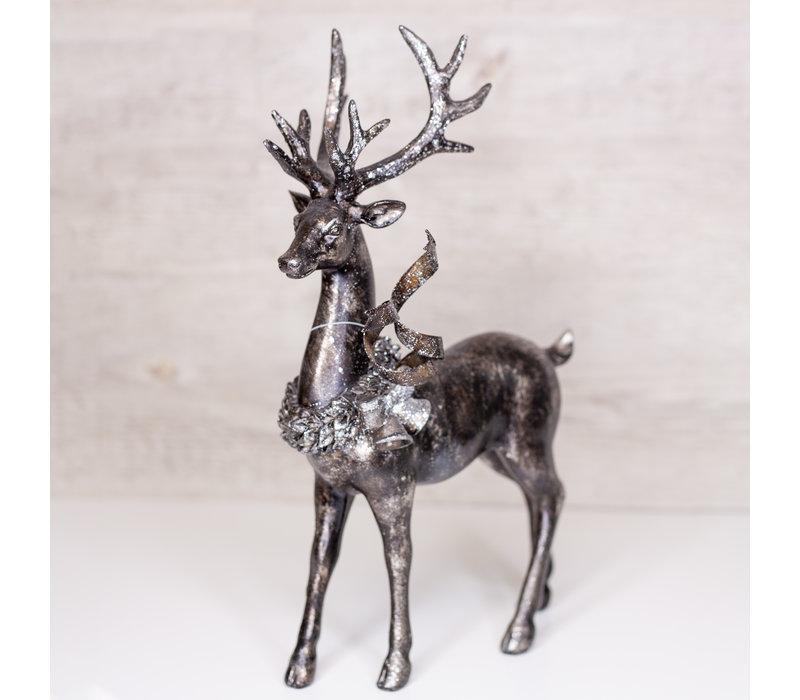"Resin Standing Deer Glitter and Metallic 13"""