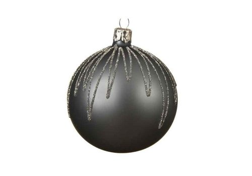 Kaemingk Line Drops Bauble Blue Stone