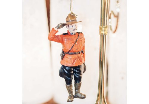 Christmas Tradition RCMP Saluting Mountie Ornament