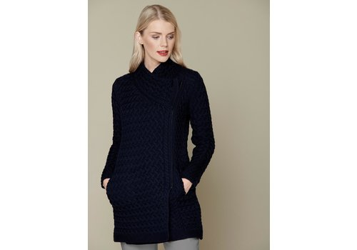 Irelands Eye Knitwear Kinsealy Trellis Biker Coat