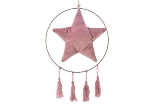 Kaemingk Fabric Ornament Velvet Pink