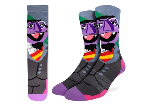 Good Luck Sock Men's Count von Count, Sesame Street Socks