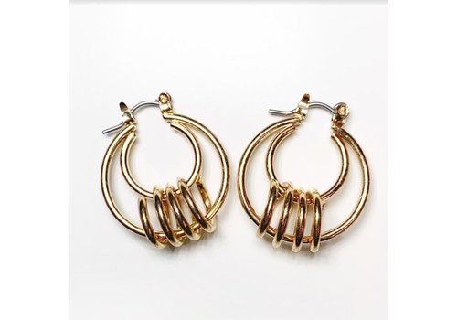 Club Manhattan Swirl Hoops Gold