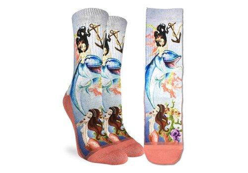 Good Luck Sock Women's Mermaids & Dolphins Socks