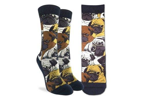 Good Luck Sock Women's Social Pugs Socks