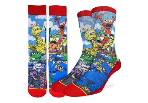 Good Luck Sock Men's Sesame Street Family Socks