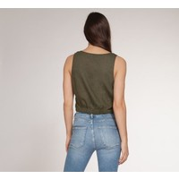Button Down Tank With Front Tie