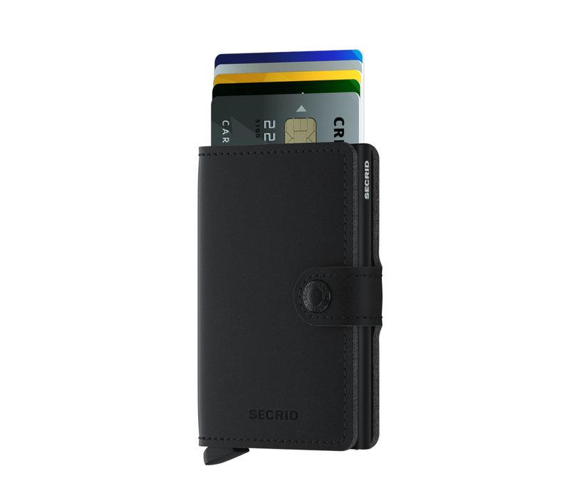 Mini Wallet Vegan Soft Touch Black