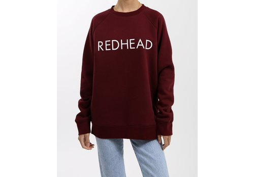 Brunette The Label Redhead Burgundy Crew