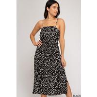 Double Smocked Waistband Printed Dress