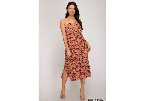 She & Sky Double Smocked Waistband Printed Dress