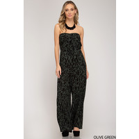 Animal Print Wide Leg Jumpsuit