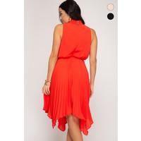 Smocked Dress With Handkerchief Hem