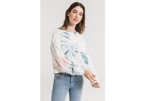 Z Supply The Multi Color Tie Dye Pullover