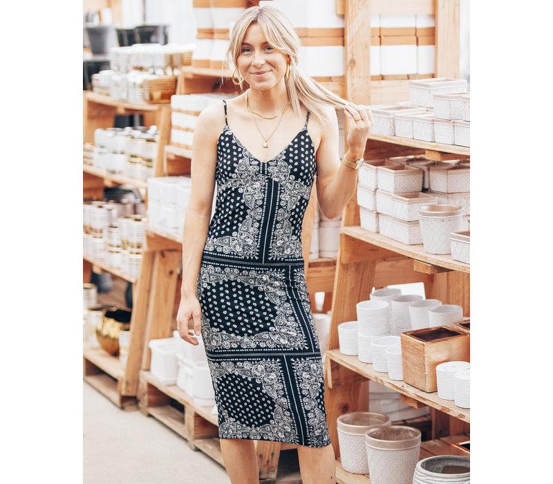 Paisley Knee Length Dress