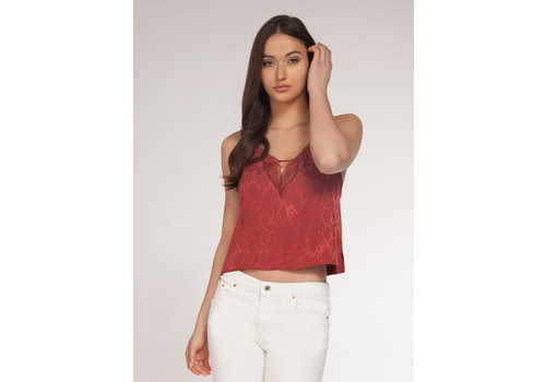 Dex Crop Cami With Lace Detail