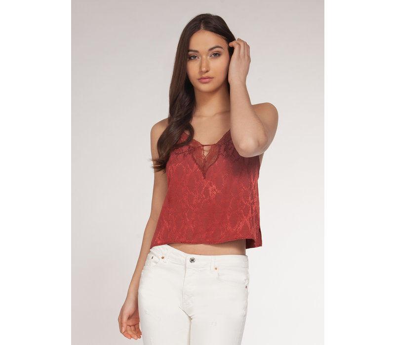 Crop Cami With Lace Detail