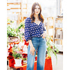 Mink Pink Perfect Blue Floral Blouse