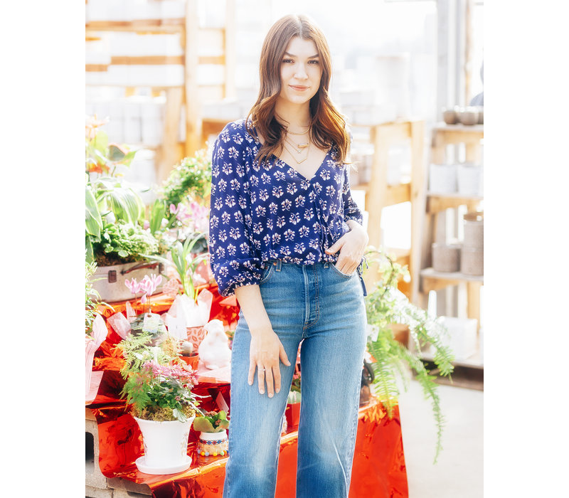 Perfect Blue Floral Blouse