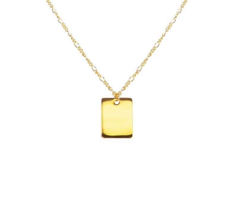 "23"" Engravable Tag Necklace"