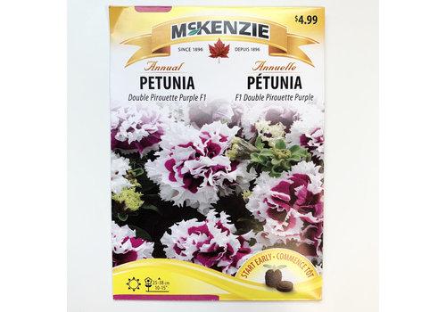 McKenzie Petunia Dble Pirouette Purple Seeds