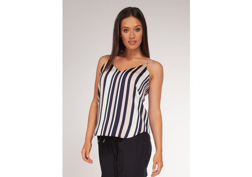 Black Tape Striped Reversible Tank Top