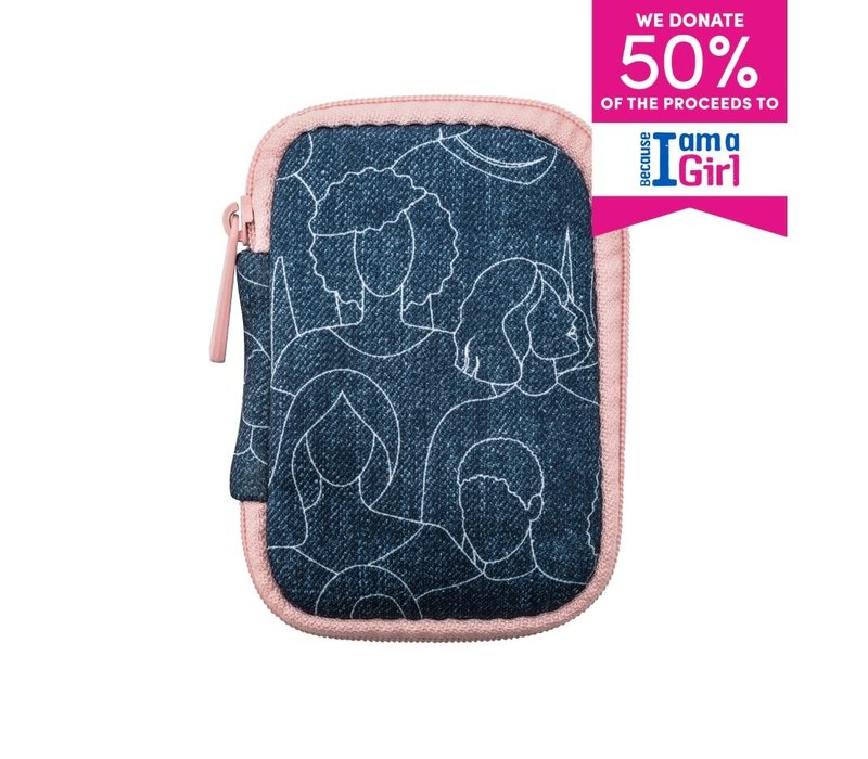 Because I Am A Girl Ear Bud Case Blue