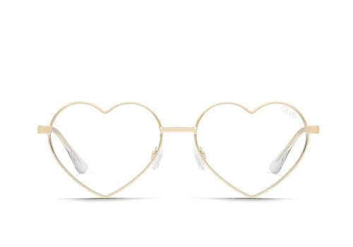 Quay Australia Heartbreaker Glasses Gold/Clear