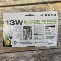 13W CFL 6400K Kelvin 4 Pack