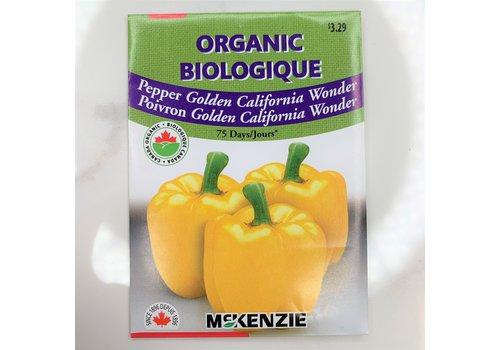 McKenzie Pepper Golden Cal Wonder Organic Seeds