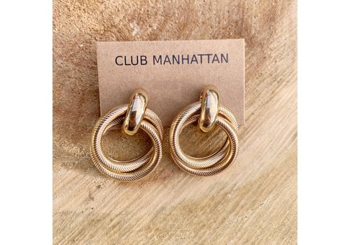 Club Manhattan Tammy Studs Gold
