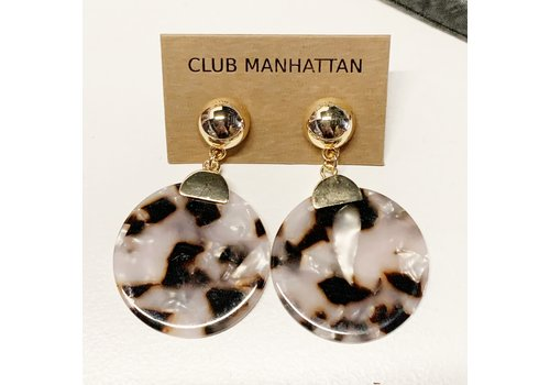 Club Manhattan Golden Turtle Shell Studs