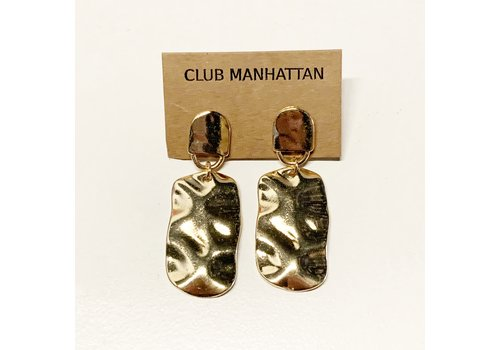 Club Manhattan The Wavy Earrings Gold