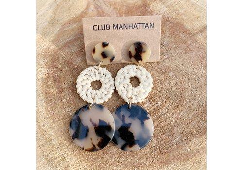 Club Manhattan Tortoise Rotan Earrings