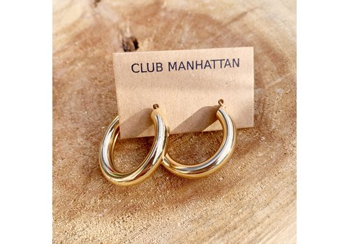 Club Manhattan Coco Hoops Small Gold