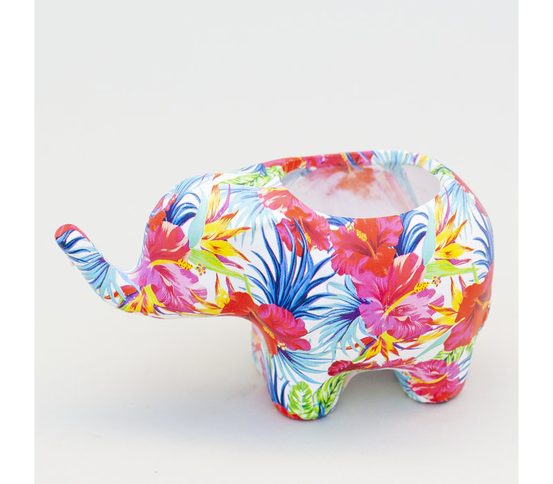 Colorful Elephant Planter Small