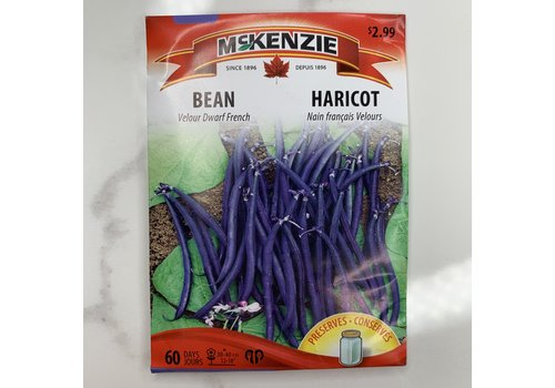 McKenzie Bean Velour Dwarf French (B) Seeds