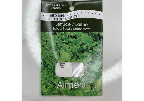 Aimers Seed Tapes Lettucesalad Bowl