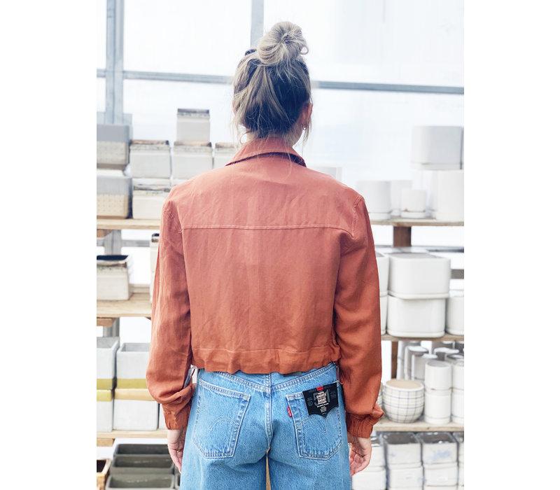 Cropped Blush Jacket