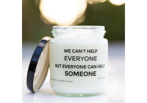 Soy Candle Everyone Can Help Someone