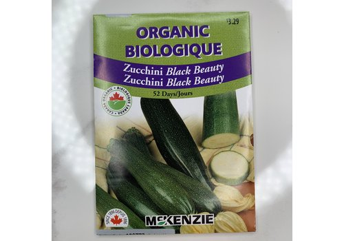 McKenzie Zucchini Black Beauty Org Seeds