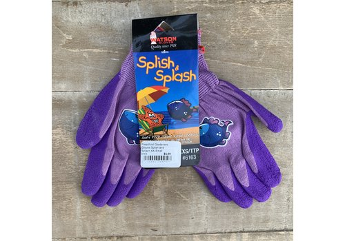 Watson Gloves Preschool Gardeners Gloves Splish and Splash XX-Small