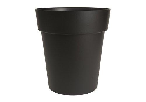 Viva Self Watering Round Planter Black