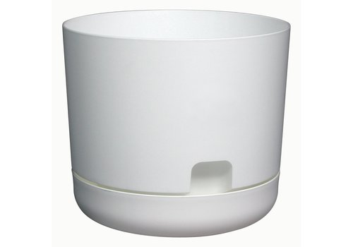 Oasis Planter With Saucer White
