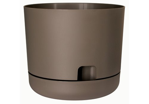 Oasis Water Reservoir Planter With Saucer Cappuccino