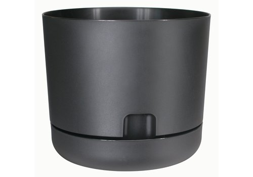Oasis Water Reservoir Planter With Saucer Black