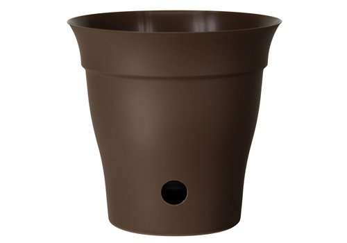 Contempra Self Watering Round Planter Chocolate