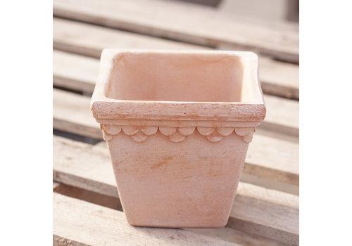 Deroma Royal Square Pot Terracotta