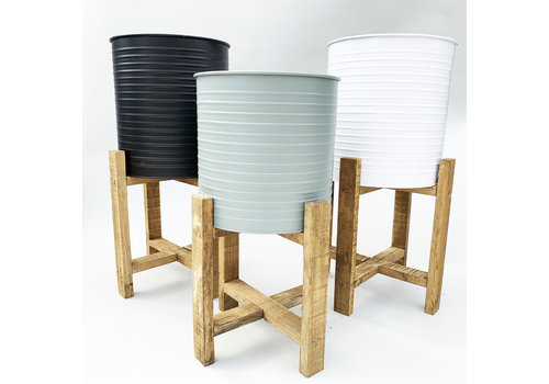 Koopman International Planter With Wooden Stand